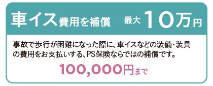 車イス費用を補償 最大10万円