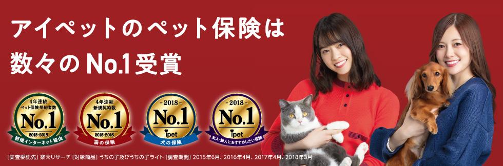 アイペットのペット保険は数々のNo.1受賞